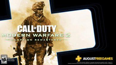 Photo of تشمل عناوين PS Plus المجانية لشهر أغسطس CoD: Modern Warfare 2 Campaign Remastered