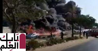 Photo of فيديوهات ترصد لحظة حريق ماسورة بترول بطريق الإسماعيلية وتظهر شهامة المصريين