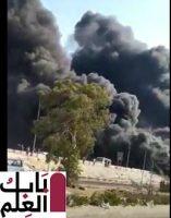 فيديوهات ترصد لحظة حريق ماسورة