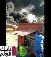 26288 حريق ماسورة بترول بطريق الإسماعيلية 3 1