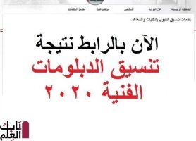 إعلان نتيجة تنسيق الدبلومات الفنية الآن على بوابة الحكومة المصرية (الرابط)
