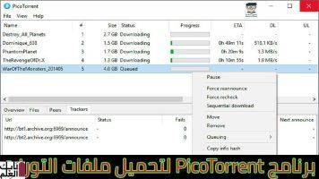 مراجعه شامله لبرنامج التورنت الرائع PicoTorrent 2020 نسخه مجانيه