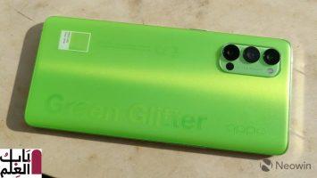 فتح صندوق ومراجعه هاتف Green Glitter OPPO Reno4 Pro 5G