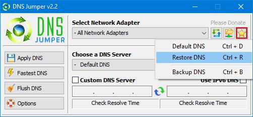كيفية استعادة إعدادات DNS الخاصة بك