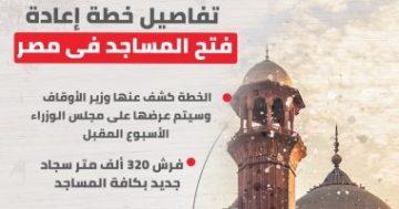 مصر دراسة عودة فتح المساجد