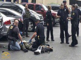 شاهد لحظة تعامل رجال الشرطة