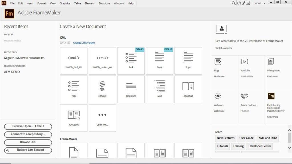 برنامج Adobe FrameMaker