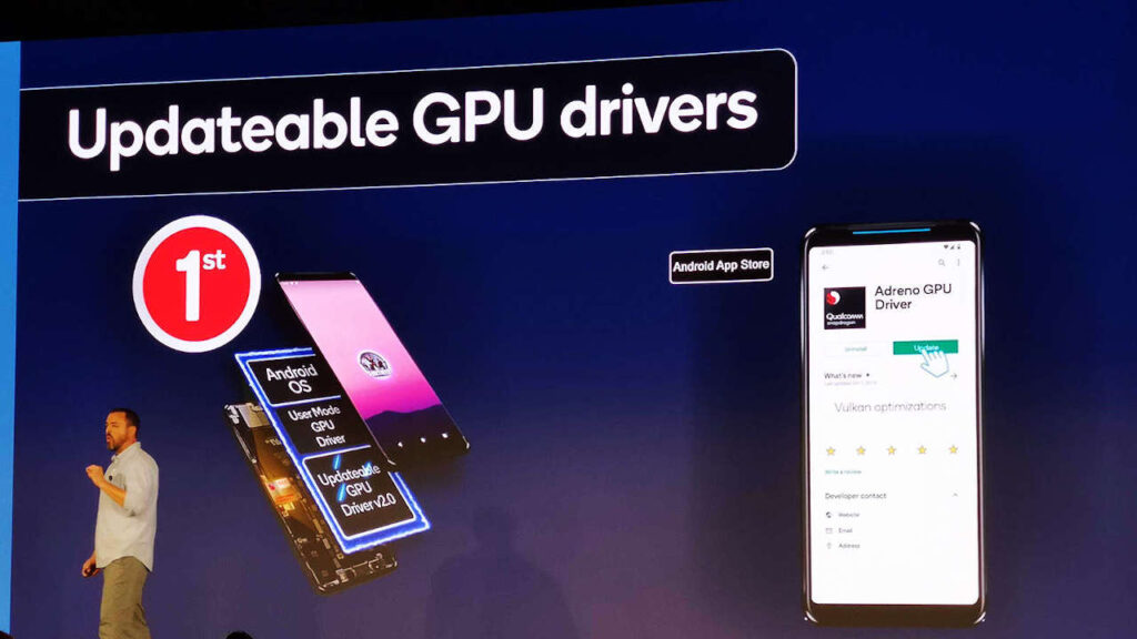 تحديثات برنامج تشغيل Google Play GPU