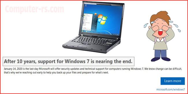 ماذا بعد ايقاف دعم ميكروسوفت