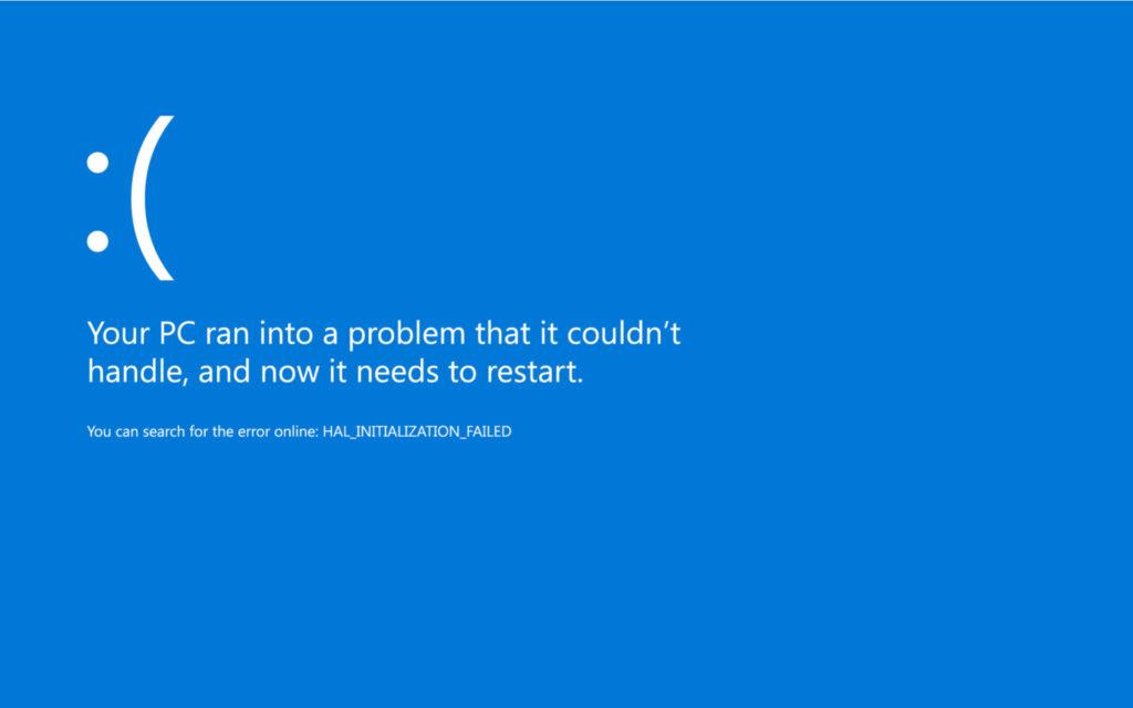 حلول مشكلة الشاشة الزرقاء فى الكمبيوتر
