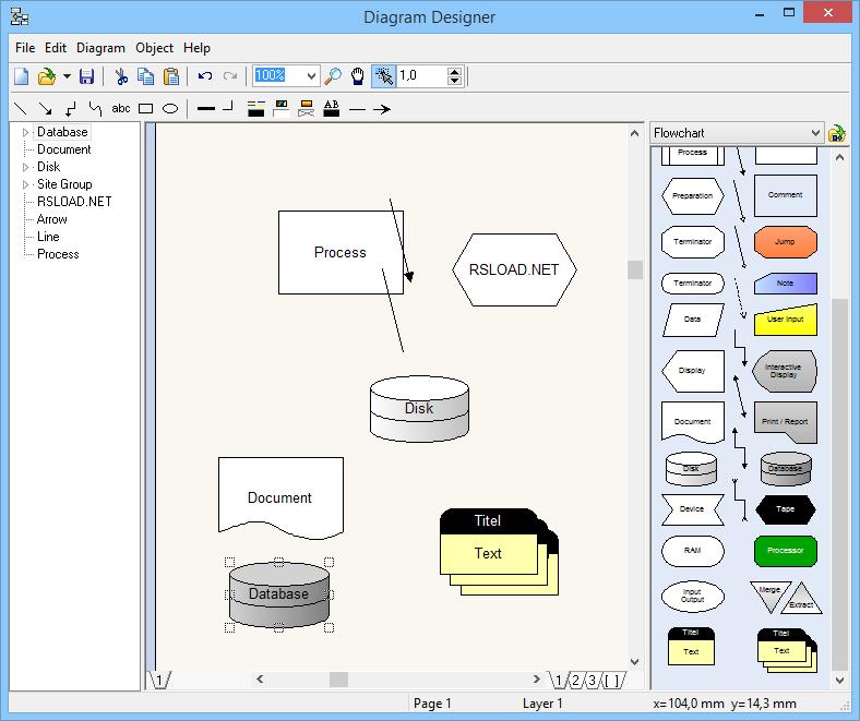 برنامج مصمم الرسم التخطيطي