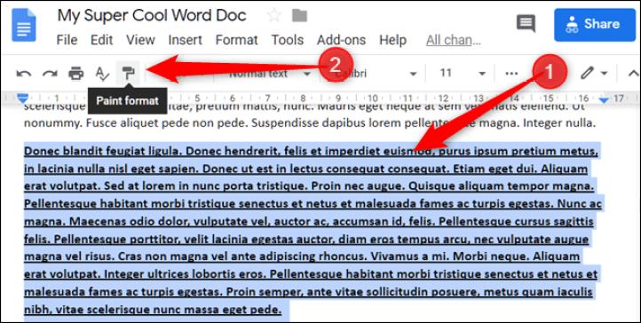 كيفية نسخ التنسيق في مستندات Google