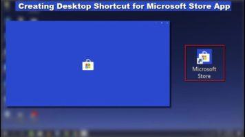 قم بإنشاء اختصار سطح المكتب لتطبيق Microsoft Store