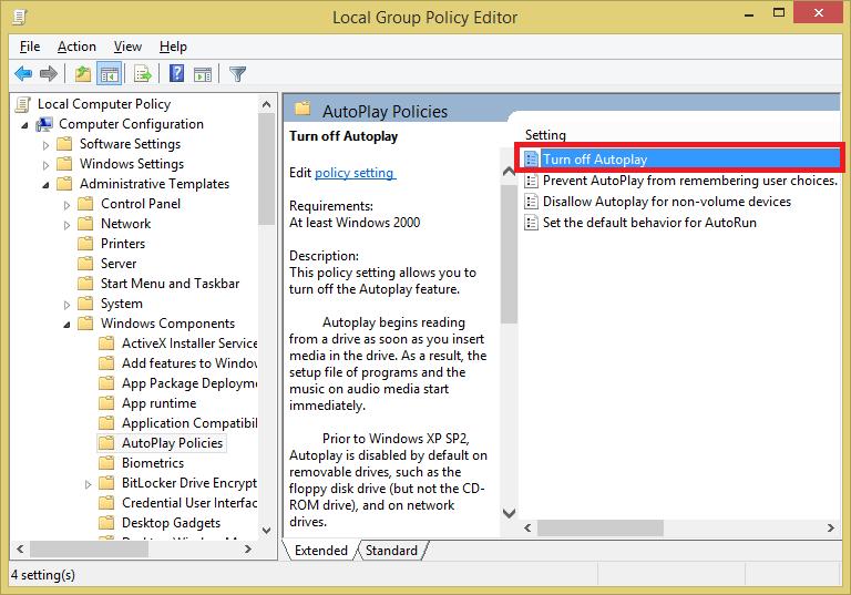 Disable AutoRun Windows10 05