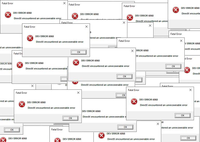 حل مشكله رساله خطاء Dev Error 6068