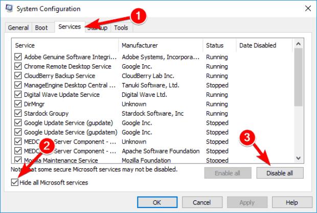 حل مشكله Update Error