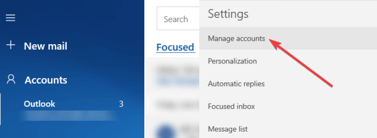 manage mail app accounts