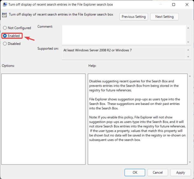 كيفية تعطيل File Explorer Search History